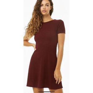 F21 ribbed knit mini dress fit and flare